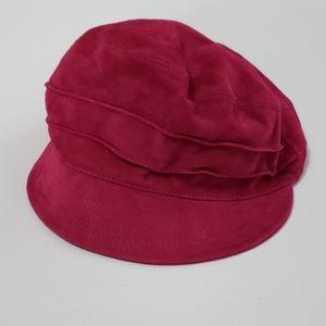 Tarnish vintage purple 100% leather Italian hat